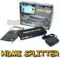 HDMI 1.3 1080P Splitter with Amplifier AMP 2 ports