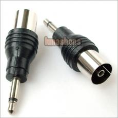 Male 3.5mm To RF Antenna CATV TV FM Female Plug Connector