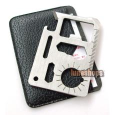 Special Slim version Stainless 11 in 1 Pocket Army Survival Multi Tool Card