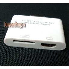 iPad to HDMI Cable Adapter for iPad 2 iphone 4G iPod Touch + Ipad Female Port
