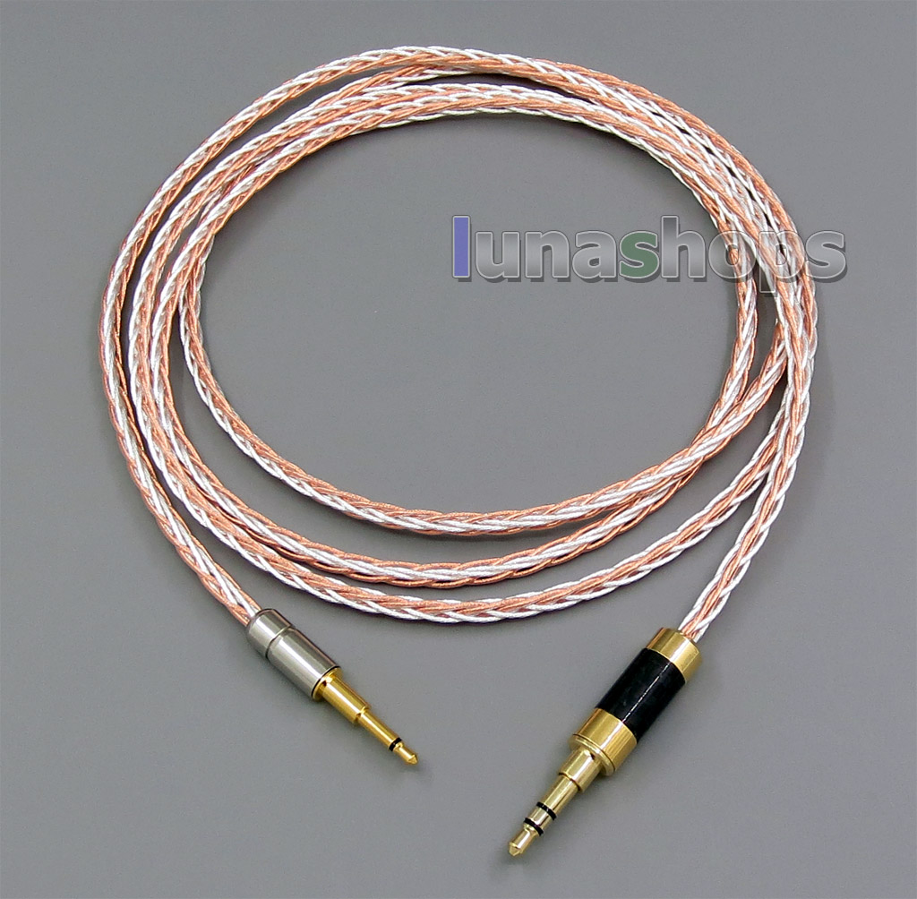 Semi-finished 800 Wires Extreme Soft Silver + OCC Alloy Signal Earphone Headphone Cable 8*100*0.05