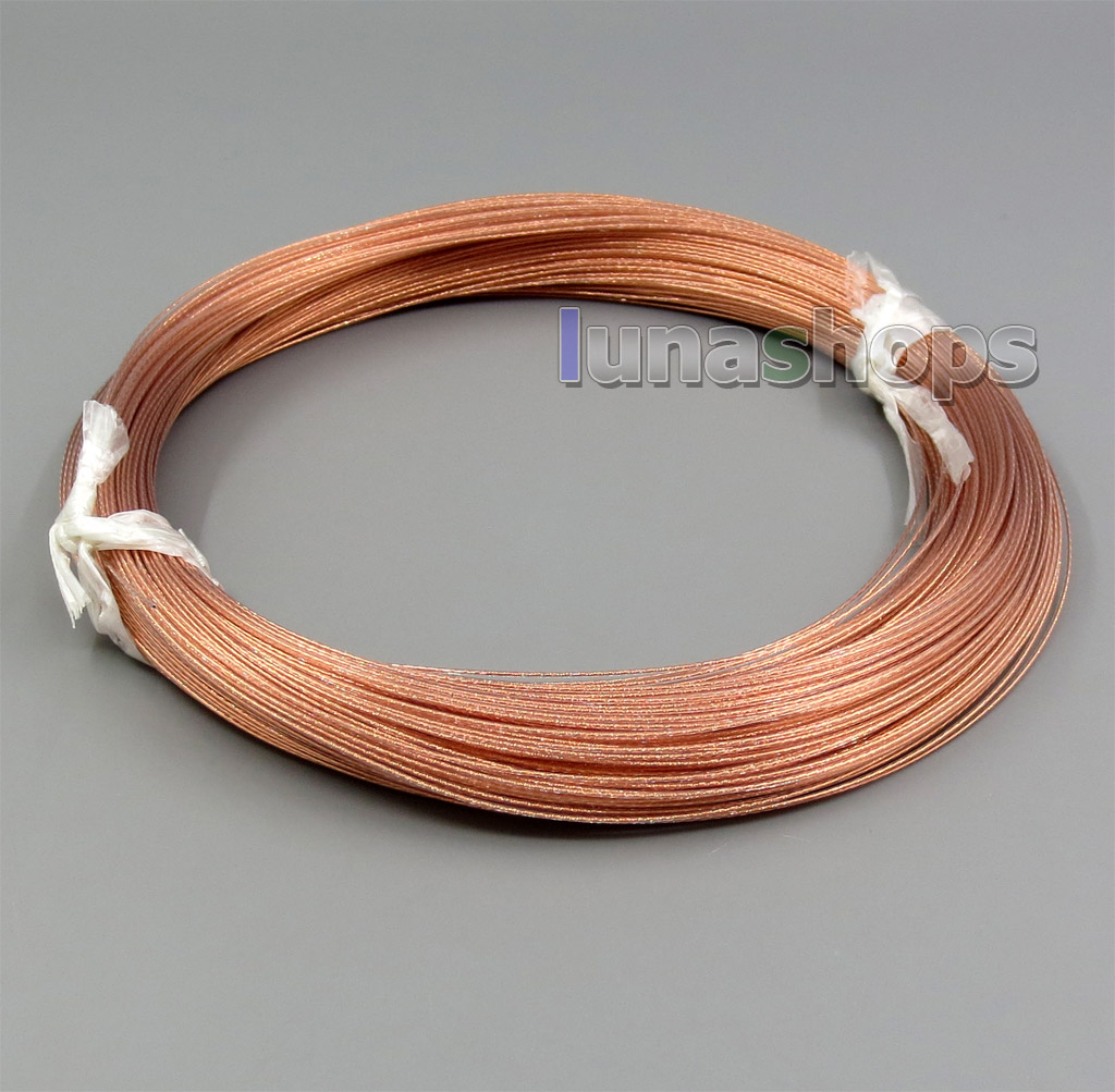 100m Acrolink Copper+Pure Alloy (4% silver+96% copper)Signal Earphone Cable 7*0.1 30AWG Dia:0.6mm