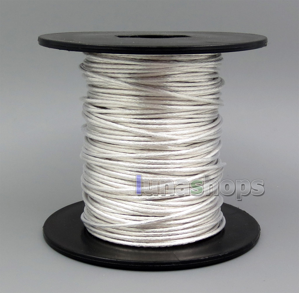 50m Pure Silver Plated OCC Signal Audio Power Custom DIY Cable 378*0.05mm Dia:1.4mm