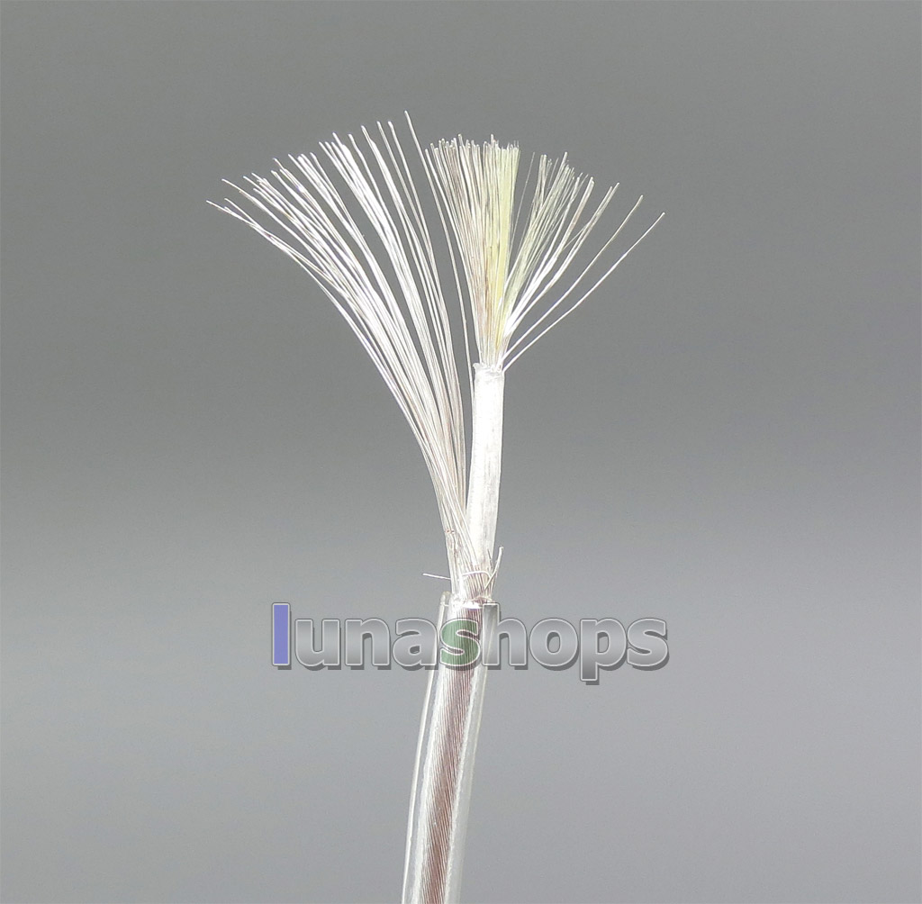 50m 99.9% Pure Silver Shielding Signal 45*0.05mm Shielding+50*0.05mm TPU Wire Cable Dia:1.5mm For DIY