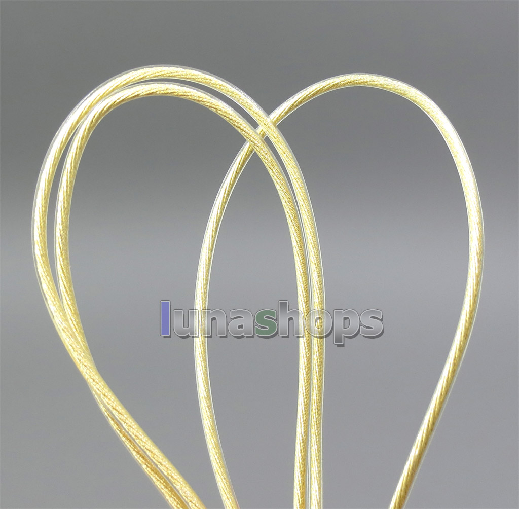 48*0.05mm Bulk Extremely Soft 7N OCC Pure Silver + Gold Plated Earphone DIY Custom Cable(Not  )
