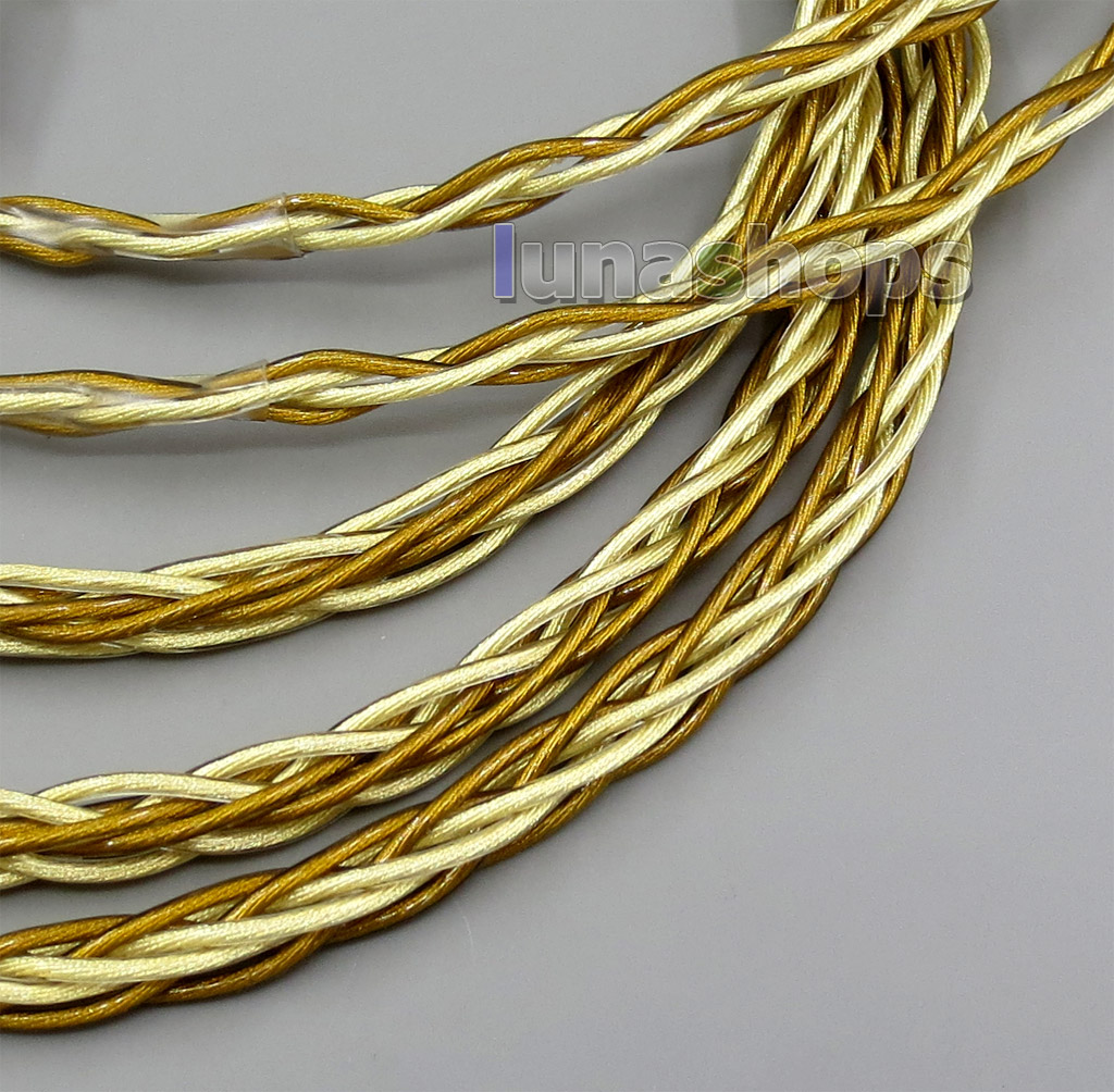 8 Cores Extremely Soft 7N OCC Pure Silver + Gold Plated Earphone Cable For Shure se535 se846 se425 se215 MMCX