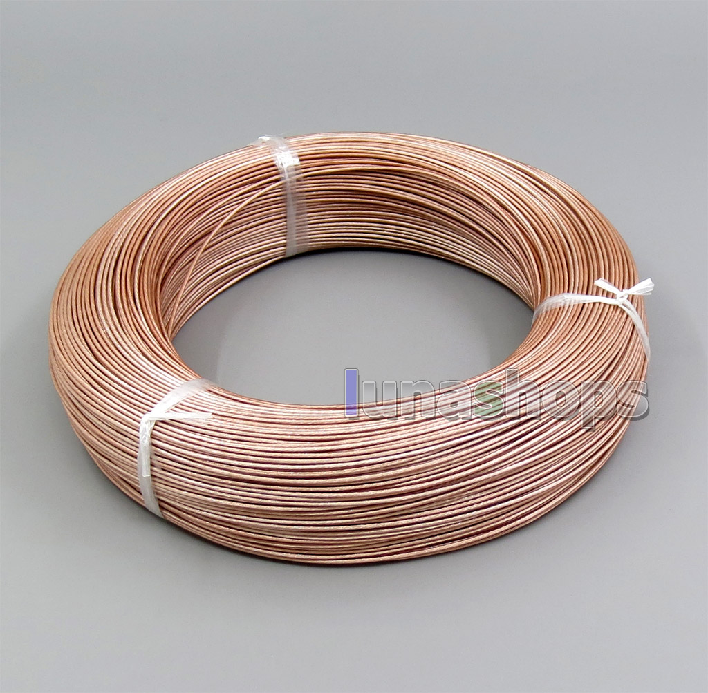 10m Hi-Res Pure Silver Plated 7N OCC 150*0.05mm Insulating Layer Earphone Headphone Bulk Wire Cable OD 1-1.1mm