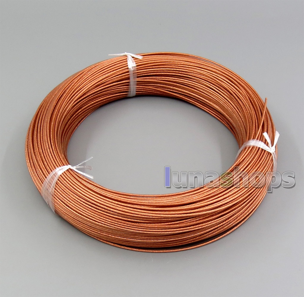 10m Hi-Res Pure 7N OCC 160+0.05mm Insulating Layer Earphone Headphone Bulk Wire Cable OD1.1-1.15mm