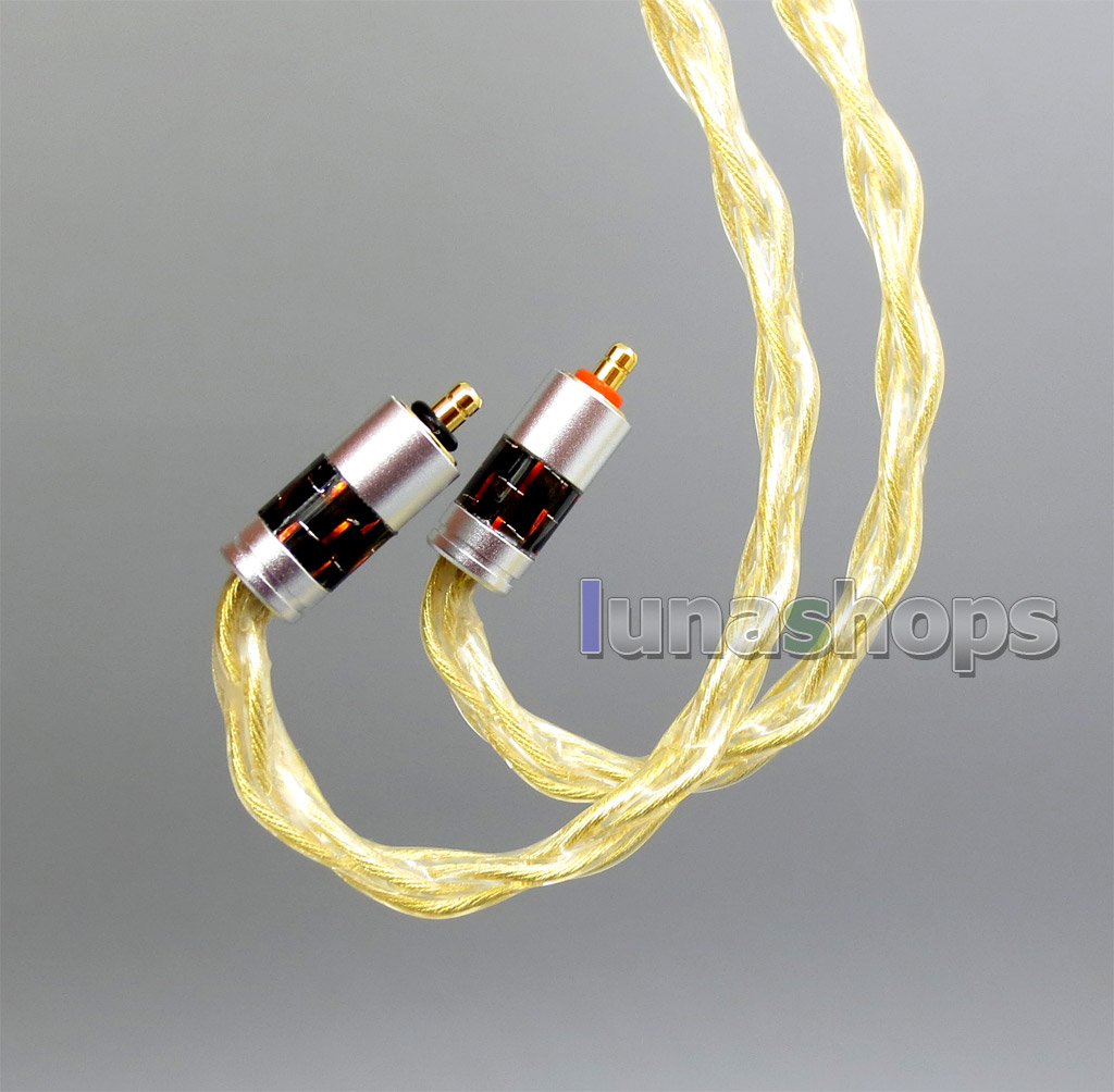 Pure OCC Silver + Golden Plated Earphone Cable For UE Live UE6Pro Lighting SUPERBAX IPX