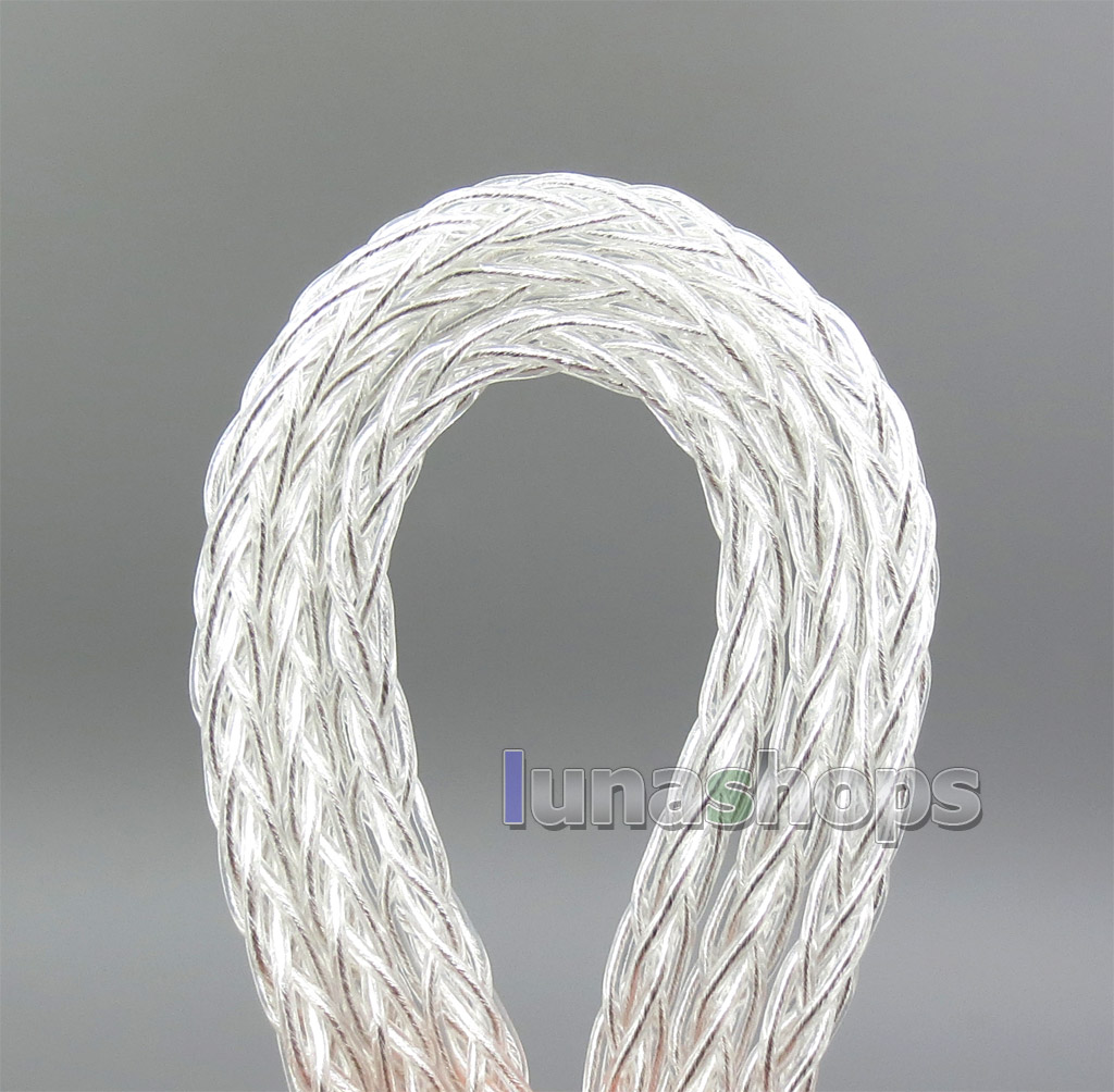 8 core 2.5mm 3.5mm 4.4mm Balanced MMCX  Pure Silver Plated OCC Earphone Cable For SE535 SE846 Se215 Custom 5 BA
