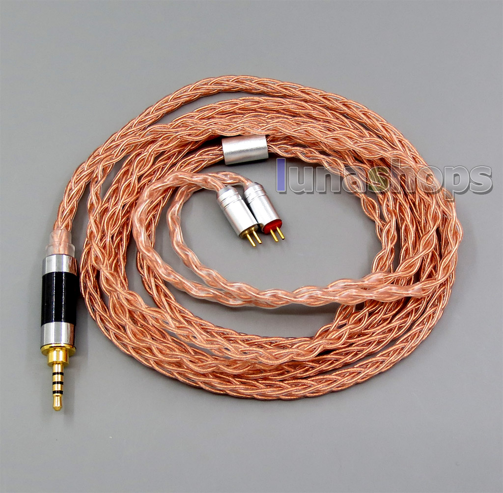 Copper 8 core 2.5mm 3.5mm 4.4mm Balanced MMCX Pure Silver Plated OCC Earphone Cable For 0.78mm W4r UM3X Custom 5 12 BA