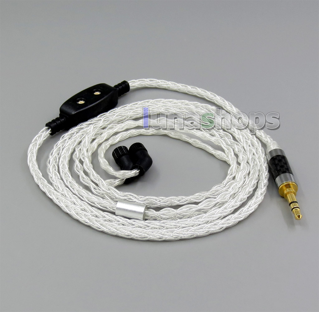 8 core Balanced Pure Silver Plated OCC Earphone Cable For AKR03 Roxxane JH24 Layla Angie AK70 AK380 KANN