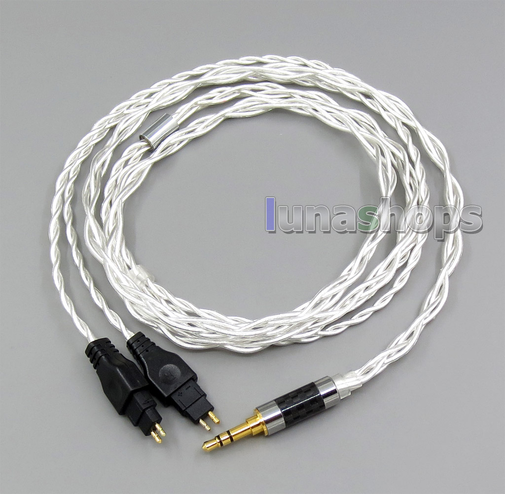 2.5mm 3.5mm 4.4mm 4 Cores Pure Silver Shielding Headphone Cable For Sennheiser HD25-1 SP HD650 HD600 HD580 HD525