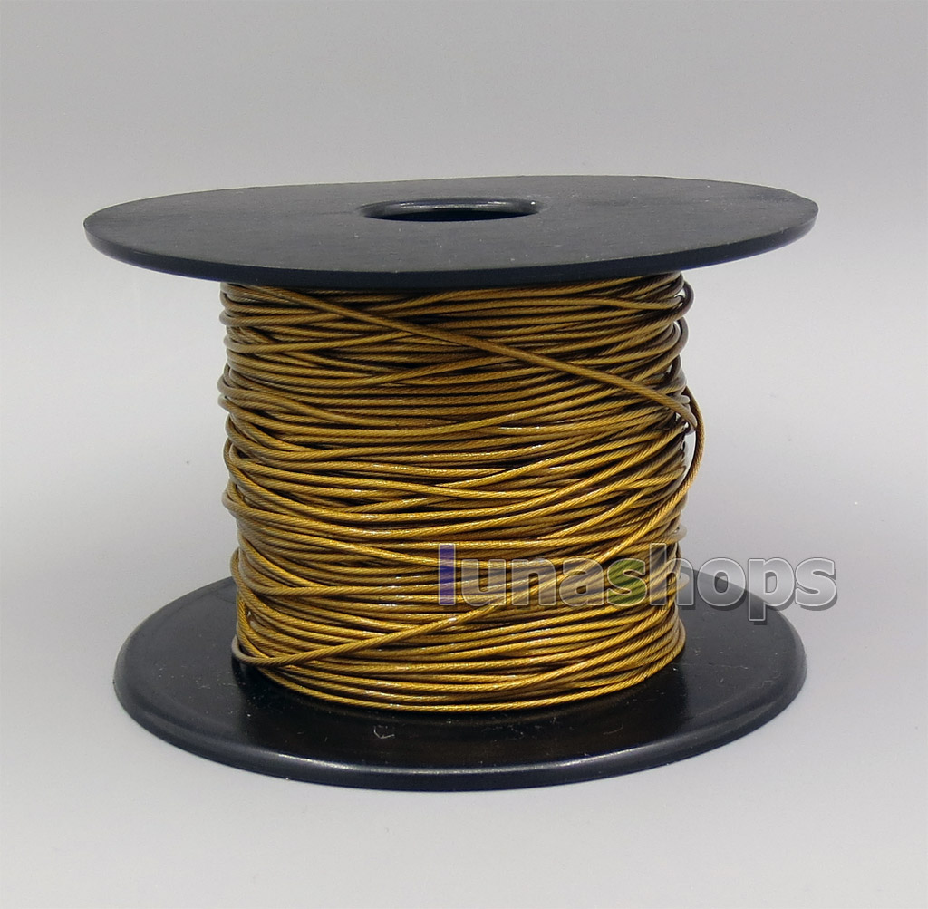 Hi-Res 48*0.05mm Bulk Extremely Soft 7N OCC Pure Silver + Gold Plated Earphone DIY Custom Cable(Not  )