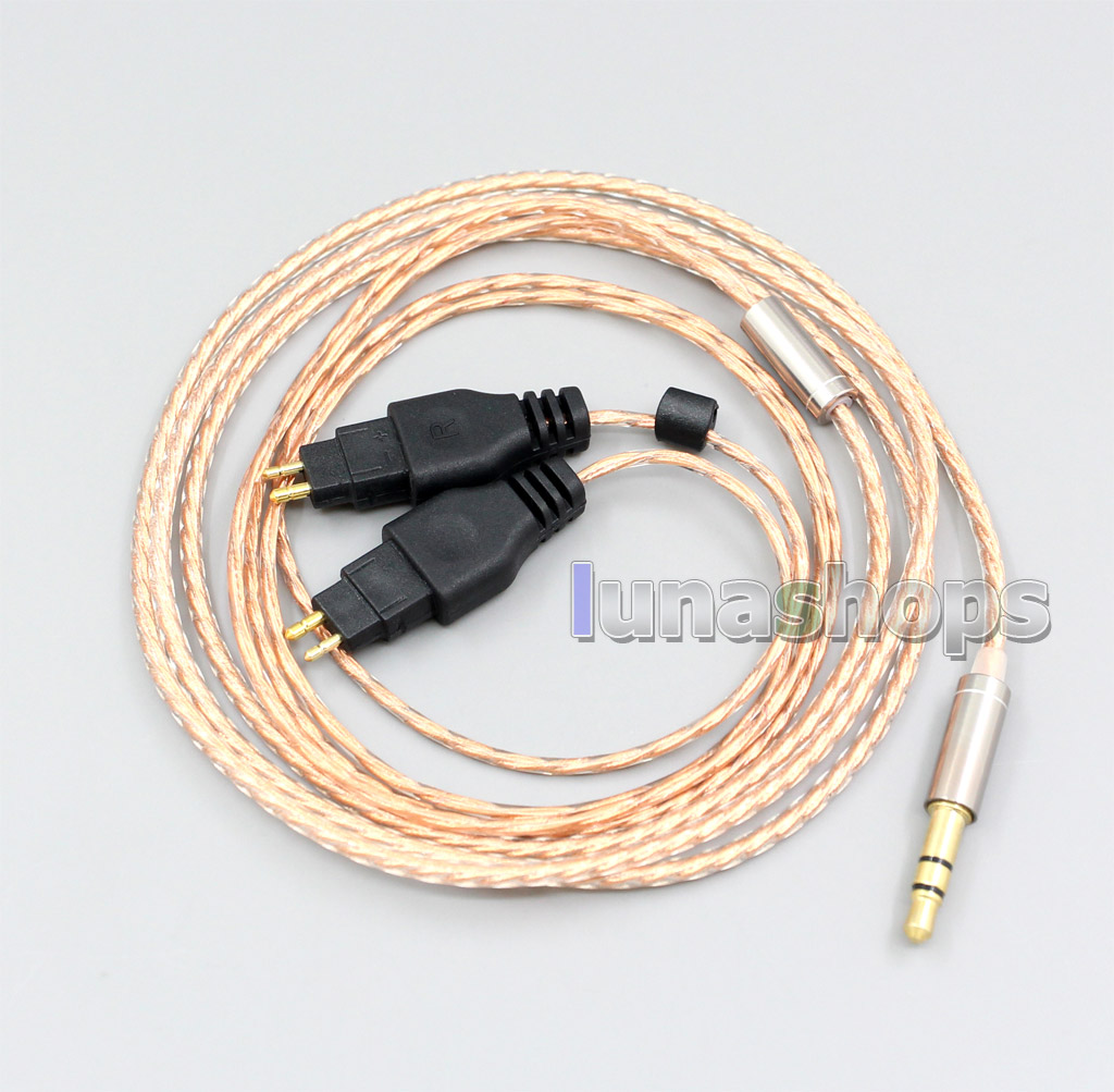 With Slide Block Copper Shielding Headphone Cable For Sennheiser HD25-1 SP HD650 HD600 HD580 HD525 HD565