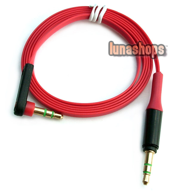 100cm Universal 90 Degree 3.5mm Male to Male Upgrade Audio cable For Monster headphone
